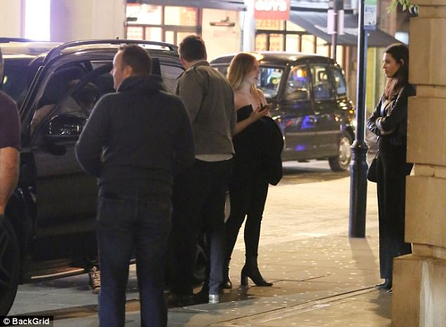 Mishap: He had also been seen driving his dad's Range Rover with a cracked wing mirror last month
