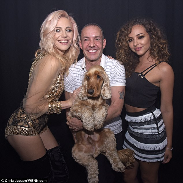 That's the Lott: Pixie was pictured backstage at G-A-Y at Heaven Nightclub in London ahead of her performance, with Little Mix's Jade Thirlwall (R)
