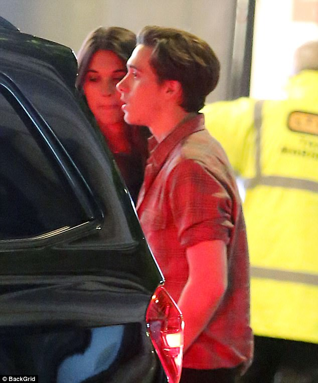 Party time:Brooklyn Beckham showed no signs of stopping his string of nights out on Saturday, as he was seen leaving  the Toy Room in Mayfair, in the early hours