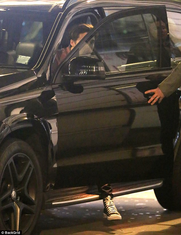 Whoops:The star, who drives a £37,615 Mercedes C-class Mercedes Coupe, was seen being awarded a ticket on his father David's 42nd birthday last week