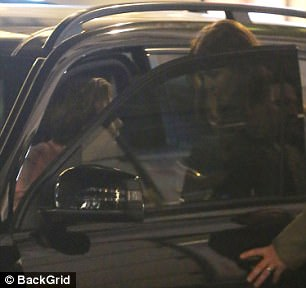See you soon: He bade the girls one last farewell as he got into his car