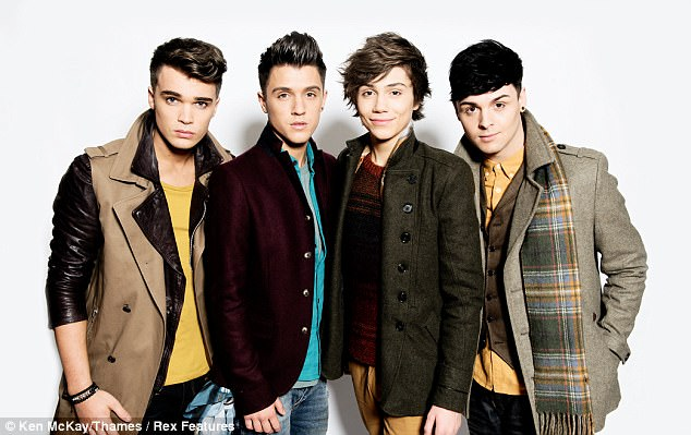 'Devastated':George Shelley's (second right) former Union J bandmates took to Twitter on Sunday to express their heartbreak at the loss of his sister Harriet