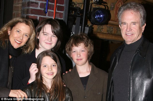 Early days: Annette Bening, Warren Beatty and their children Kathlyn (Stephen), Isabel and Benjamin in 2007 around the time Stephen came out as male. They also have one more child, Ella