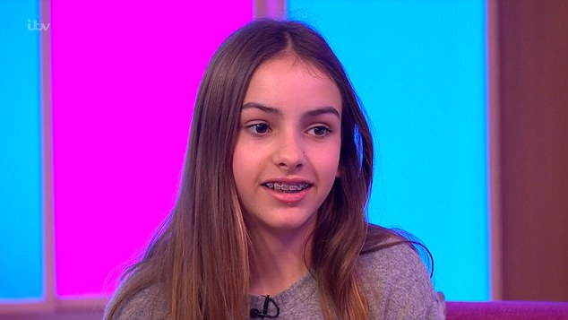 Awkward: The appearance came as her daughter Lyla, 13, admitted she finds is 'embarrassing' that her mother is on television