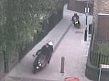 Footage and photographs show bikers weaving through tables at restaurants (pictured) and driving through pedestranised areas of Battersea in south west London