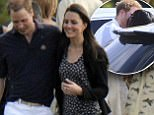 Prince William with kate Middleton at the Cowarth park Polo tournament. Picture David Parker 10.5.09