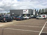 Motorists were fined in this car park in Ashford, Kent after they got caught in heavy traffic