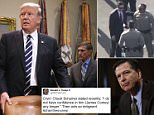 President Donald Trump has defended his sensational firing of FBI Director James Comey by mocking Senate minority leader 'cryin' Chuck Schumer