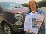 Cheryl Parker (pictured) and daughter Danielle were fined £100 each after they drove around a car park in separate cars for 15 minutes before leaving when they couldn't find a space