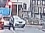 A motorist claims his footage of a pedestrian being flung into the air by a car shows that she deliberately ran in front of the vehicle in a 'crash for cash' attempt. Craig Whittaker was approaching a busy junction when the woman, pictured, ran in front of a car to cross the road