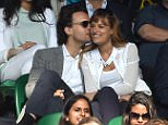 Photo Must Be Credited ©Kate Green/Alpha Press 079819 08/07/2015 ..Leonard Elschenbroich Nicola Benedetti at Wimbledon Tennis Championships 2015 in London