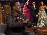 Chris Rock tried to reassure former First Lady Michelle Obama in an awkward chat during the former president's star-studded farewell party in January
