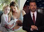 Jimmy Kimmel shared this photo of his wife Molly and their two-year-old daughter Jane checking on her baby brother after revealing the newborn had to undergo open heart surgery