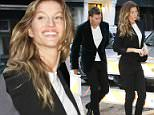 Gisele and Tom Brady arrived to Anna Wintour's pre-Met gala dinner on Sunday evening wearing almost identical outfits