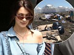 Bella Hadid wore head to toe denim in New York City on Saturday one day after the disastrous Fyre Festival she promoted was called off