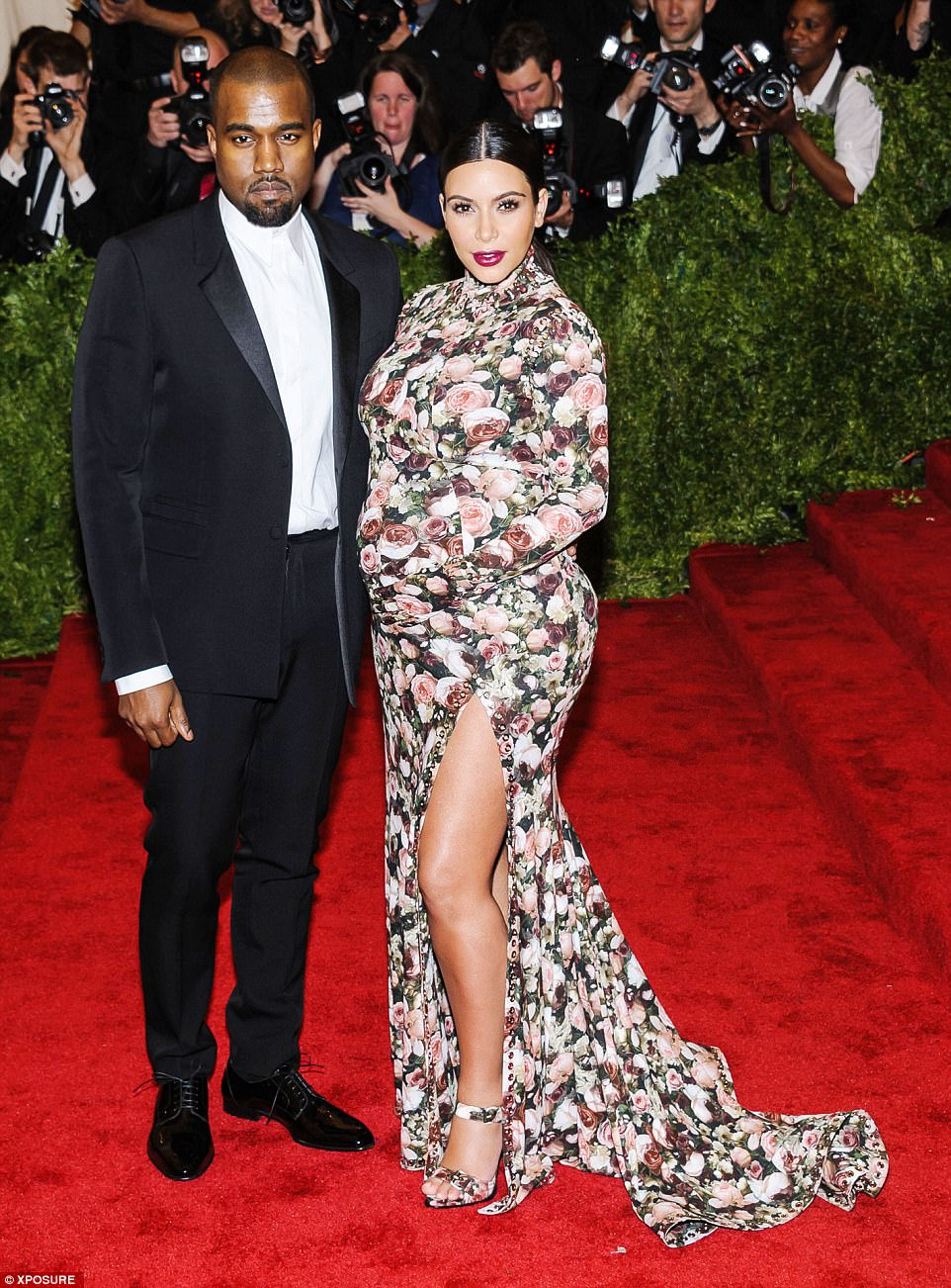 Remember this? Kim and Kanye are seen at the Punk: Chaos To Couture Met in 2013