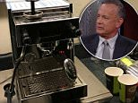 Tom Hanks has explained he gave a the White House press corps a brand new high-priced espresso machine because 'those poor b*****ds need coffee'