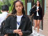 A light breeze matched with a warm sun made for the perfect weather on Tuesday and Malia Obama took the opportunity to dress comfortably as she headed to work