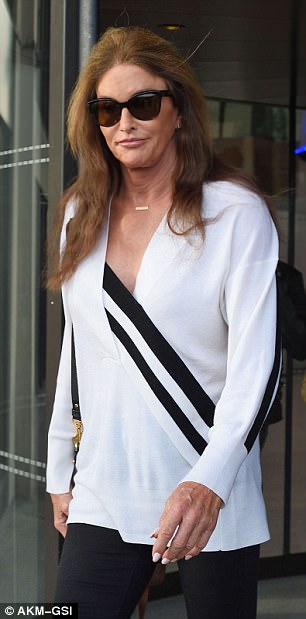 Caitlyn looked casual as she prepared to embark on another leg of the promotional tour for her new book The Secrets Of My Life