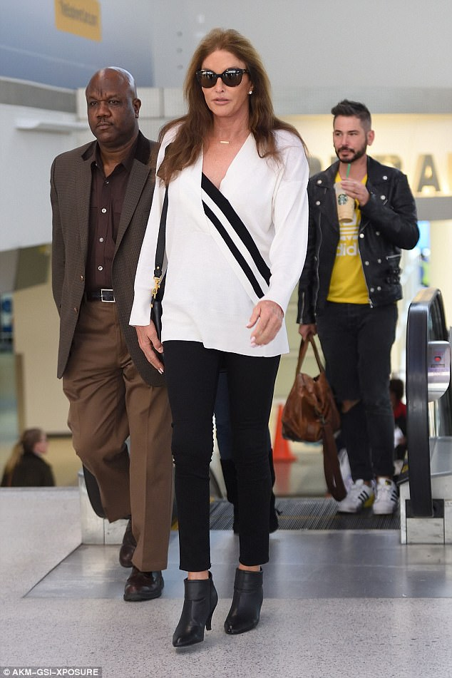 Walking the talk:Caitlyn Jennerwas seen for the first time since the 20/20 interview aired as she touched down in Newark airport in New Jersey on Sunday