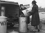 Women were photographed running a mobile canteen after a bombing raid in Sheffield, South Yorkshire, on December 12, 1940
