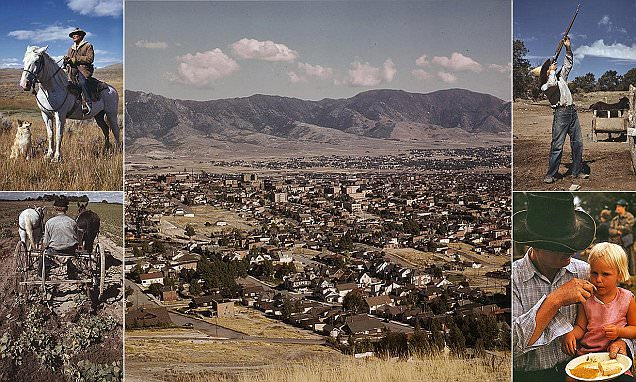 America's 1930sOld West shown in color photos