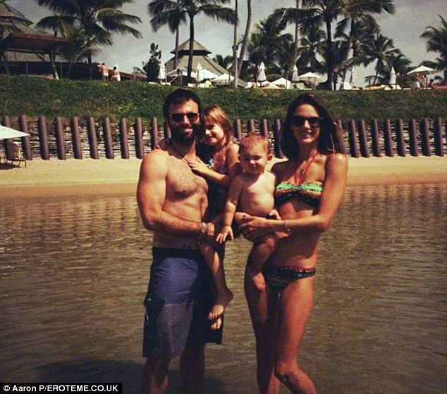 Holiday photos: Alessandra posted this family snapshot from her summer holiday at the Nannai Beach Resort in Brazil on her Twitter page