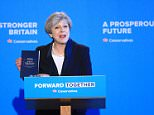Theresa May said today she wanted to build a 'great meritocracy' in Britain after Brexit as she unveiled the Tory manifesto