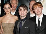 Daniel Radcliffe (pictured right), Emma Watson (pictured left) and Rupert Grint (pictured centre) respectively played Harry Potter, Hermione Granger and Ron Weasley in the hit film series - they are all on the Sunday Times Rich List
