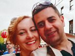 Polish-born Renata Antczak was reported missing after leaving her home in Hull, East Yorkshire, on April 25. She is pictured with her dentist husband Majid Mustafa