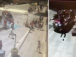 The moment the car smashes into the bollards, bringing the driver's deadly rampage in New York's Times Square to an end