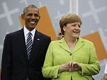President Obama surfaced Thursday in Germany for an appearance alongside German Chancellor Angela Merkel, where he railed against the Trump administration's plan to build a Southern border wall