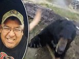 The terrifying moment a hunter was attacked by a charging black bear in Canada has been captured on camera