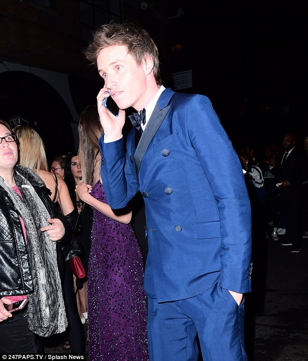 Hello! The Oscar winner and his wife Hannah were refused entry to the singer's event at 1 Oak nightclub in New York because of overcrowding - with the British heartthrob being seen making calls from outside as they navigated the crowds