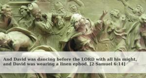 David dancing before the Ark header