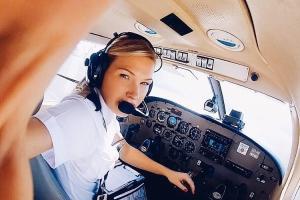 Мишель Гурис — 25-летняя девушка-пилот