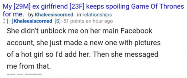 The internet has spoken: Reddit comenters were not kind to the man, calling him a 'cheating a**hole'