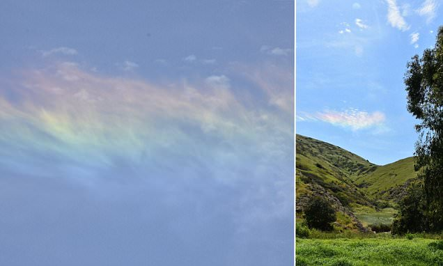Rare fire rainbow spotted in California