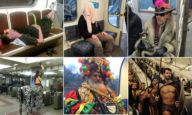 The most eccentric characters spotted on public transport