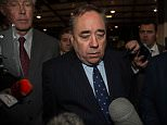 Alex Salmond prepares to give a concession speech after he was  kicked out of Parliament - ending more than 30 years in frontline politics.
