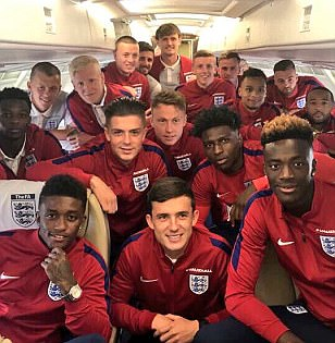 England U21s arrive in Poland for European Championships