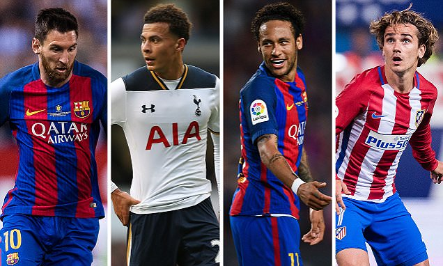 £185m Neymar tops new list as world's most valuable player