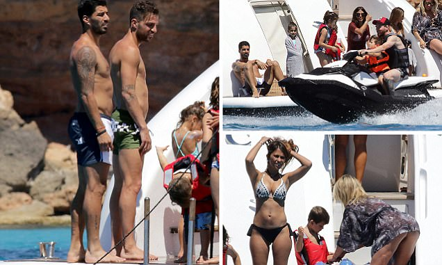 Messi and Suarez joined by Fabregas on holiday in Ibiza