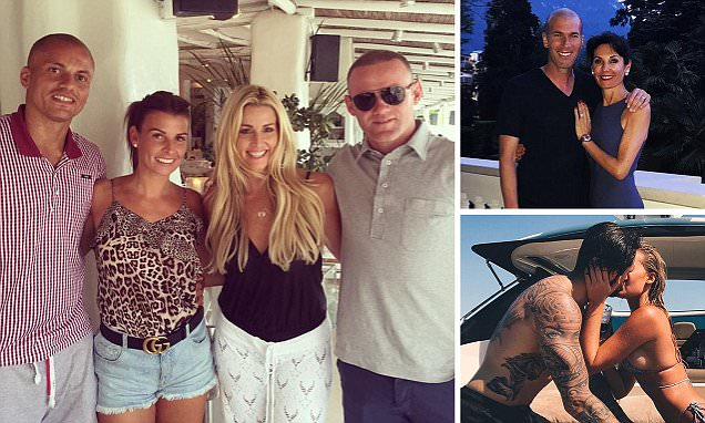 Man United star Wayne Rooney enjoys holiday with Wes Brown