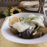 Cod with Fennel and Fingerling Potatoes