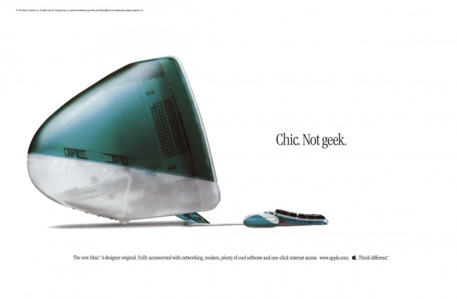 iMac ad - Chick not geek