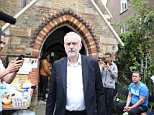 Jeremy Corbyn comforted a local resident at St Clement's Church after he visited the scene