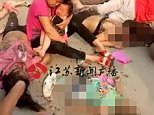 The blast struck at 4.50pm today at Chuangxin Kindergarten in Feng County