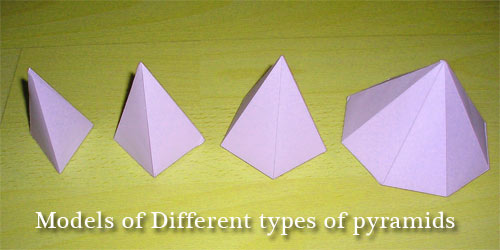 Models of Different types of pyramids