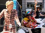First time: Chelsea Manning (above) participated in her first pride parade in New York City on Sunday.Manning was photographed smiling on the American Civil Liberties Union float during the parade in the Big Apple as she celebrated her first pride as a free woman